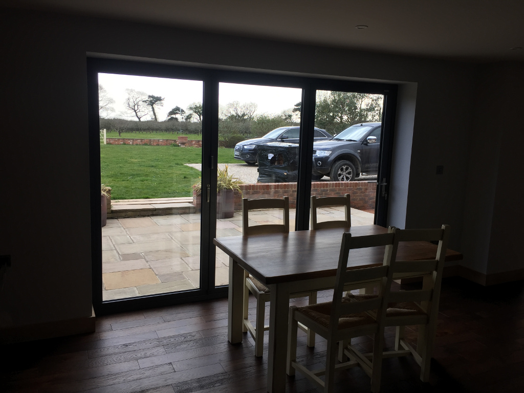 Nutbourne – view from dining table