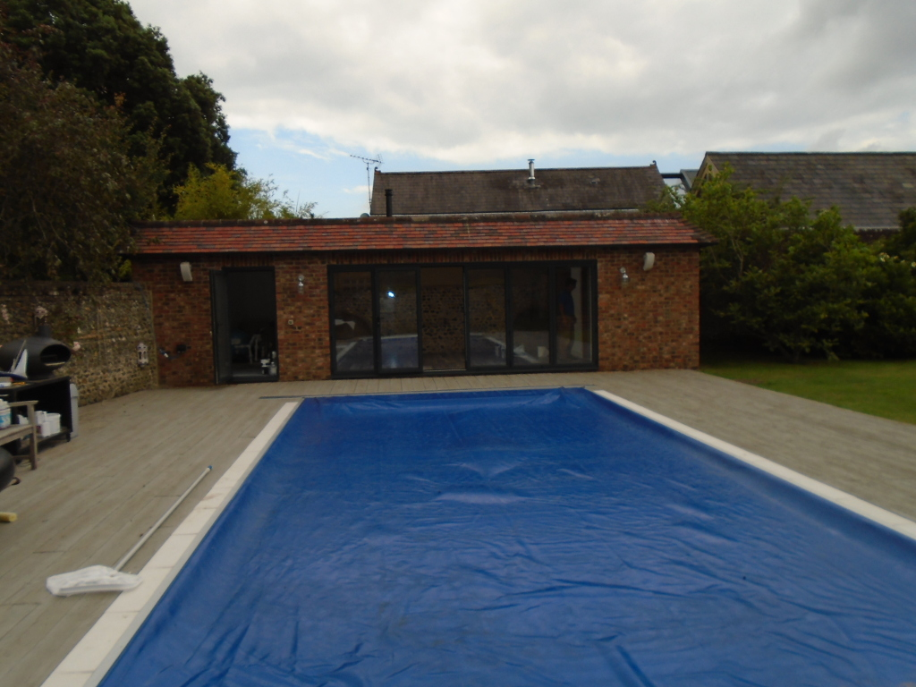 Weston House – pool room from pool